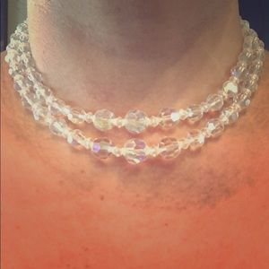 Jewelry - Beaded choker.. beautiful clear iridescent beads